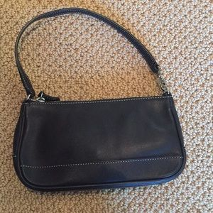Coach mini handbag black leather